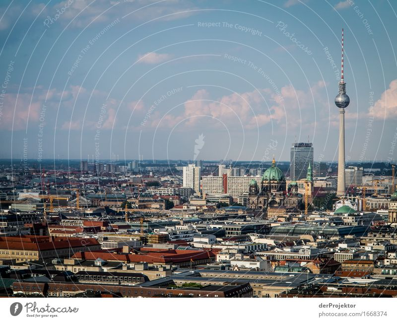 Berlin skyline in the sun Vacation & Travel Tourism Trip Adventure Far-off places Freedom Sightseeing City trip Capital city Downtown Skyline Manmade structures