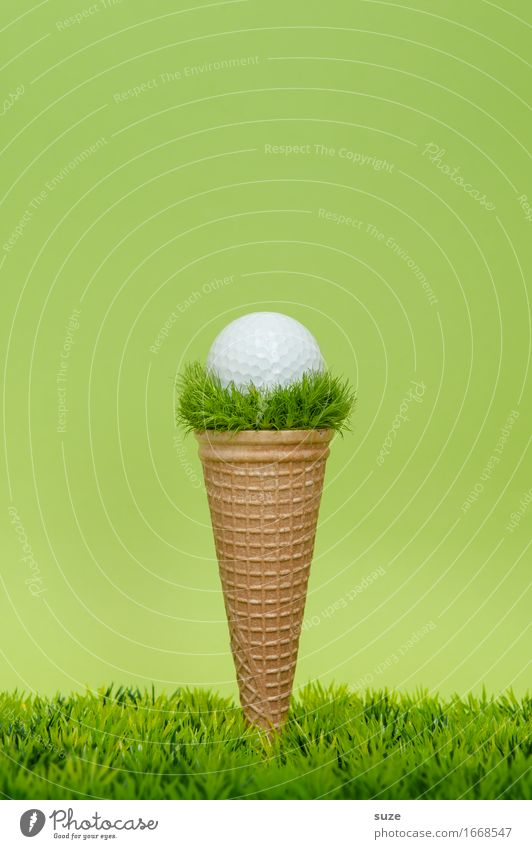 1 ball Puttgarten Food Ice cream Nutrition Eating Fast food Design Joy Playing Ball sports Sporting event Success Golf Golf course Gastronomy Meadow Exceptional