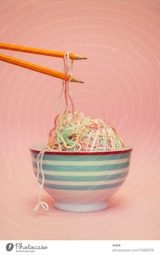 Healthy Eating Dish Food photograph Exceptional Pink Creativity Idea Illustration Graphic Appetite Bowl Sense of taste Noodles Pencil