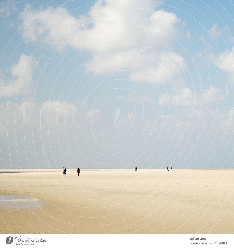 walking on the moon Colour photo Subdued colour Exterior shot Day To go for a walk Human being Environment Nature Landscape Sky Clouds Moon Summer Climate