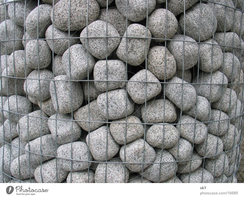 Gray Stone Grating Pebble Ornamental stone