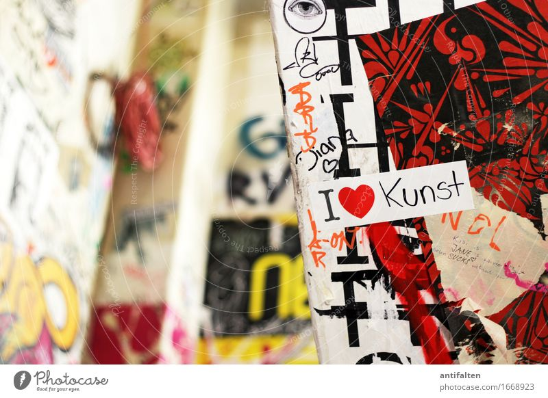 I <3 Art Culture Youth culture Subculture Media Print media Reading Label Berlin Town House (Residential Structure) Building Wall (barrier) Wall (building)