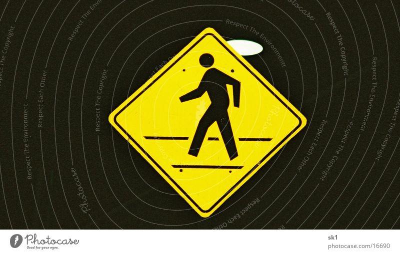 pedestrian Pedestrian Yellow Street sign Americas Things