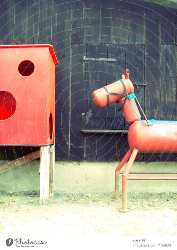 Equestrian Federation Colour photo Exterior shot Deserted Copy Space top Leisure and hobbies Equestrian sports Ride Animal Horse 1 Metal Animal figure Mock-up