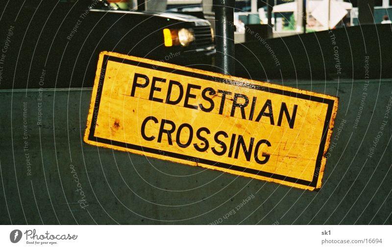 Pedestrian crossing Street sign Americas Yellow Things