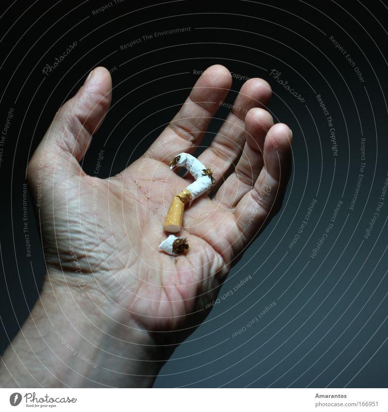 Blue Hand Adults Dark Emotions Gray Healthy Skin Masculine Health care Fingers Smoking To enjoy Gastronomy Illness Smoke
