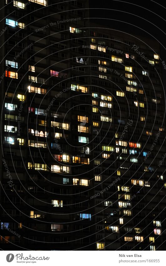 nightlife Colour photo Multicoloured Exterior shot Pattern Deserted Copy Space left Copy Space right Copy Space top Copy Space bottom Copy Space middle Night