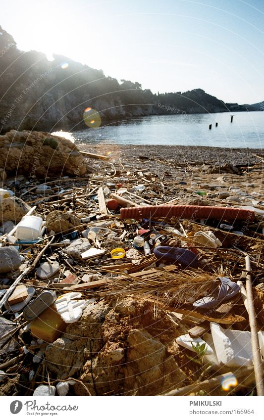 Nature Sun Ocean Beach Environment Coast Dirty Climate Trash Anger Analog Environmental protection Environmental pollution Remainder Mediterranean sea