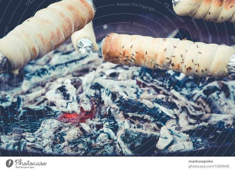 stick bread fireplace with glow Lunch Fast food Expedition Camping Nature Mobile home Calm adventure backcountry backpacker bonfire bun campfire diet escape