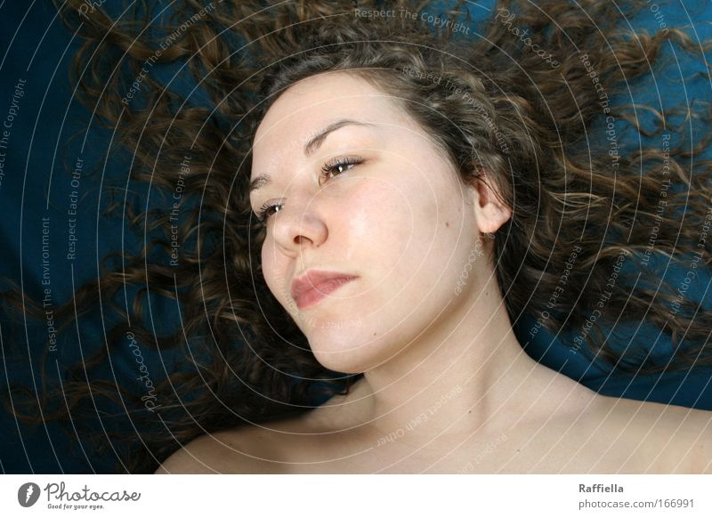 blown away Colour photo Interior shot Portrait photograph Forward Harmonious Well-being Relaxation Calm Feminine Young woman Youth (Young adults)