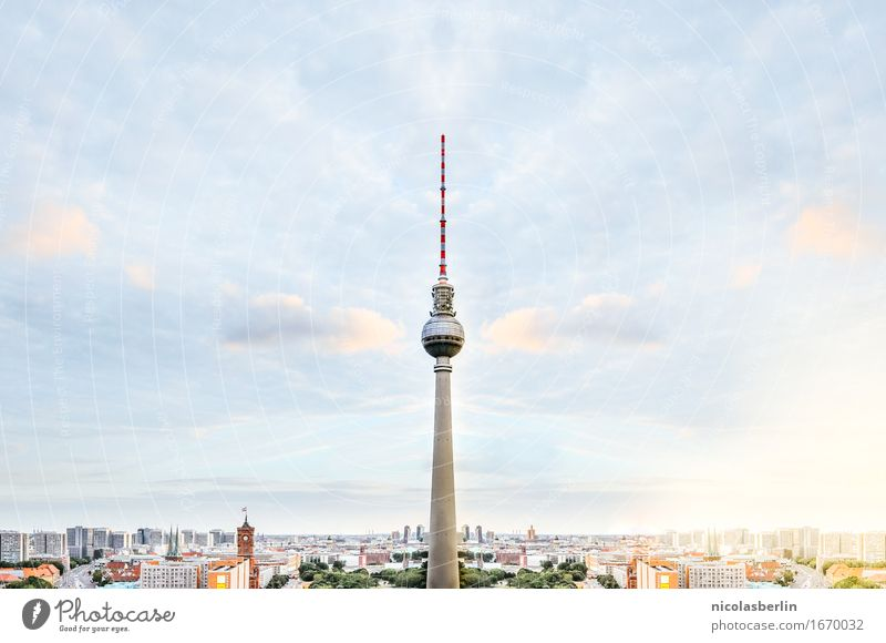 Sky Vacation & Travel Summer Far-off places Architecture Berlin Freedom Tourism Illuminate Trip Telecommunications Energy Beautiful weather Adventure