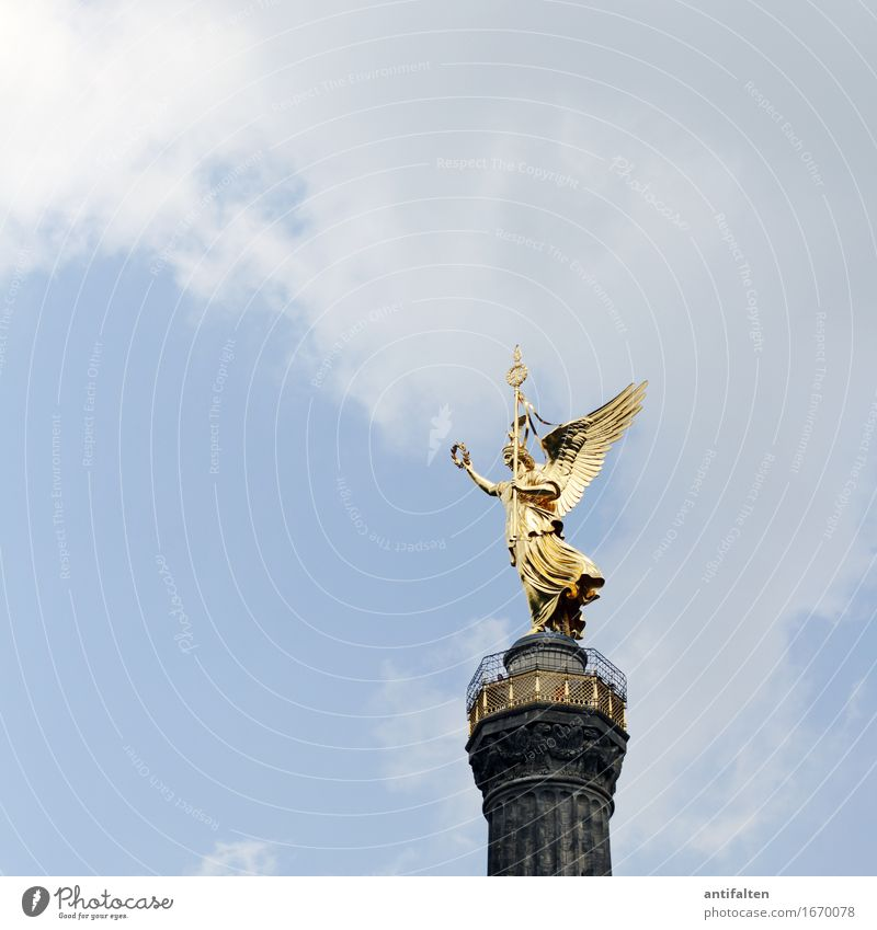 victory column Vacation & Travel Tourism Far-off places Freedom Sightseeing City trip Summer Art Artist Work of art Sculpture Culture Environment Nature Sky