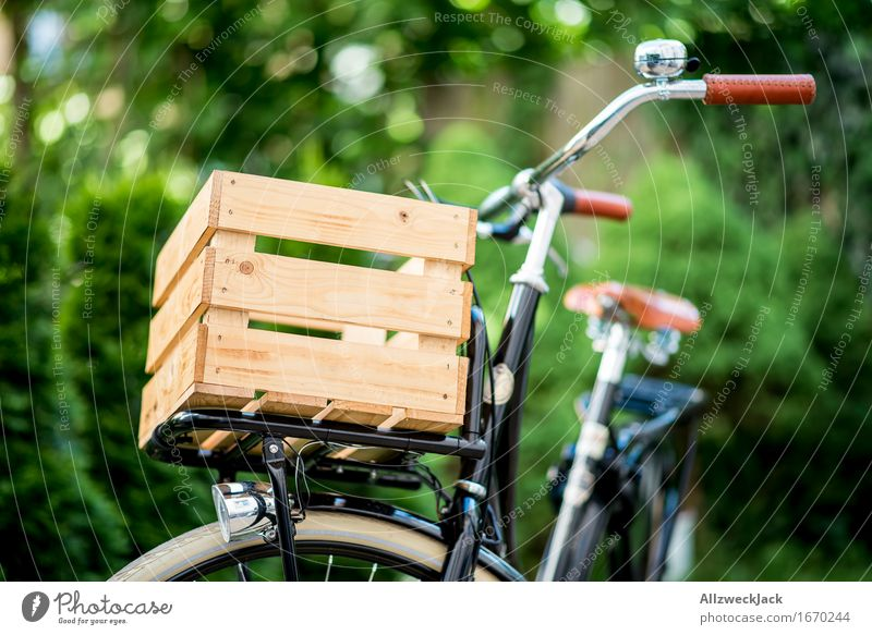 City Beautiful Bicycle Esthetic Authentic Retro Cycling Logistics Hip & trendy Sustainability Nostalgia Wooden box Freight bike