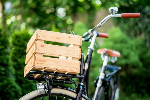 City Beautiful Bicycle Esthetic Authentic Retro Cycling Logistics Hip & trendy Sustainability Nostalgia Wooden box Freight bike