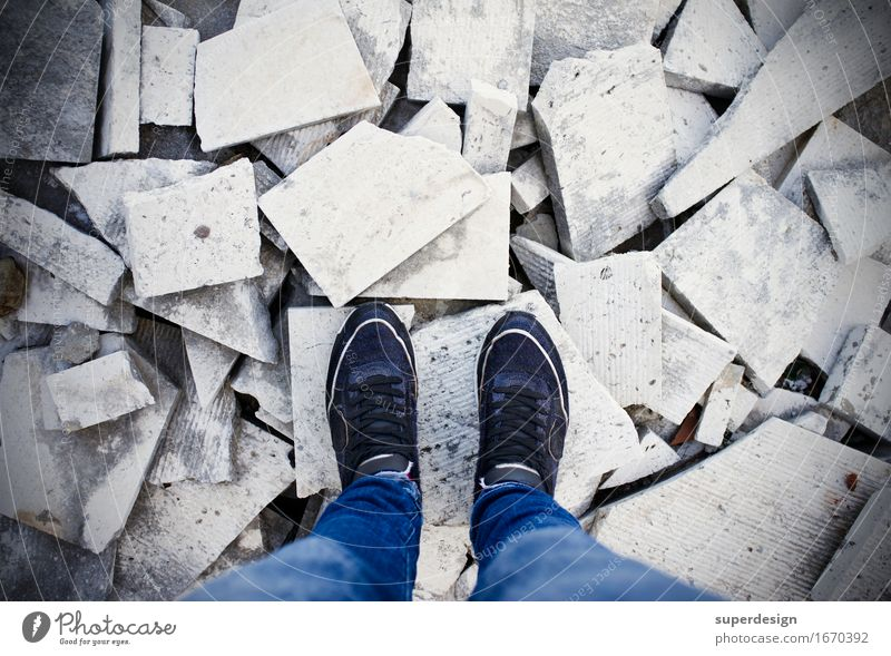 my life, a heap of ruins Intoxicant Alcoholic drinks Unemployment Trash heap Shard Broken Stone Fragment Self-confident Sadness Concern Grief Death Lovesickness