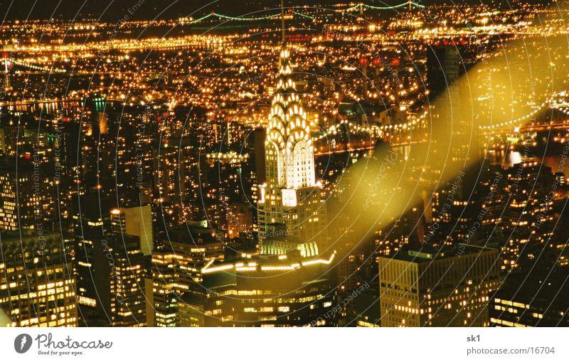 NY by night II New York City Night Sea of light Light Crysler Building