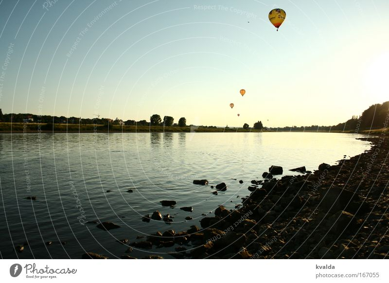 Nature Water Blue Summer Calm Relaxation Freedom Stone Landscape Environment Horizon Trip River Dresden Longing