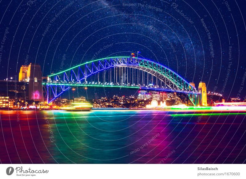 Festival Of Lights Vacation & Travel Joy Style Lifestyle Party Design Tourism Elegant Stars Bridge Tower Harbour Skyline Event New Year's Eve Tourist Attraction