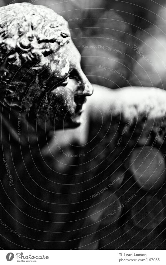 Human being White Black Stone Power Masculine Monument Muscular Black & white photo