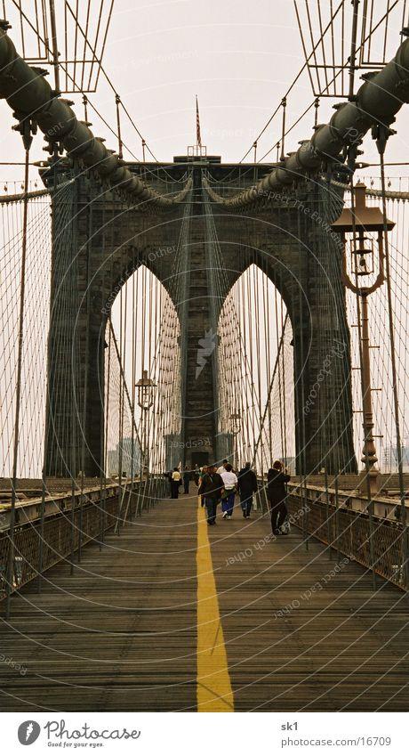 Lanes & trails Bridge New York City Symmetry Brooklyn
