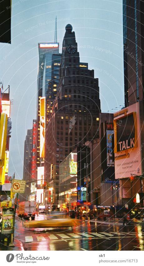 Rainy New York New York City Wet High-rise cab Light