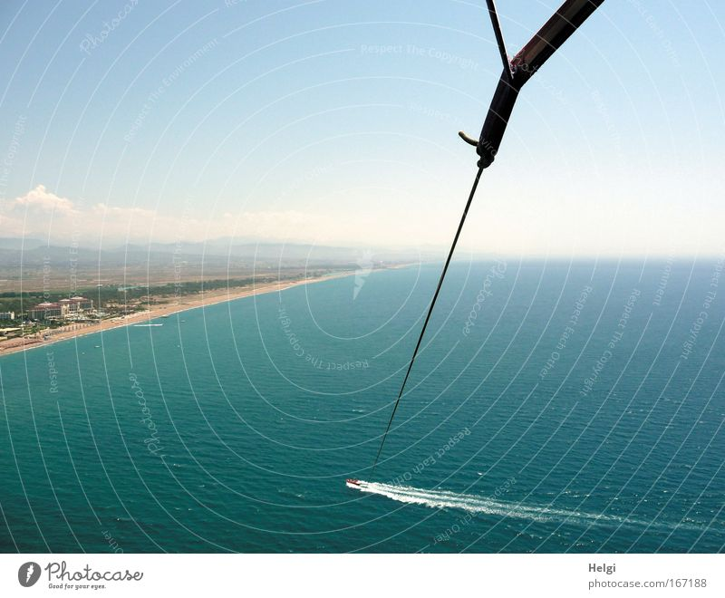 by a thread of silk.... Colour photo Exterior shot Aerial photograph Deserted Copy Space left Copy Space right Copy Space top Day Sunlight Bird's-eye view