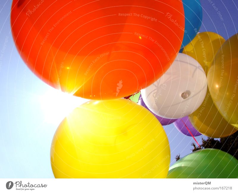Birthday Jubilee Beautiful Sky Joy Vacation & Travel Party Style Multicoloured Feasts & Celebrations Funny Flying Action Aviation Future Balloon