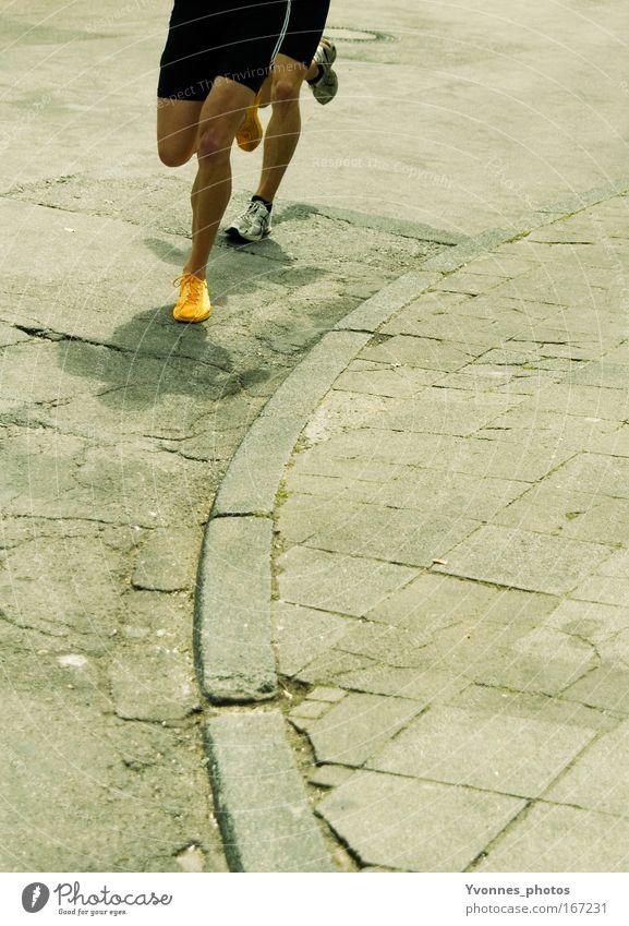 Yellow Street Sports Movement Footwear Legs Healthy Walking Gold Success Running Speed Running sports Leisure and hobbies Team Fitness