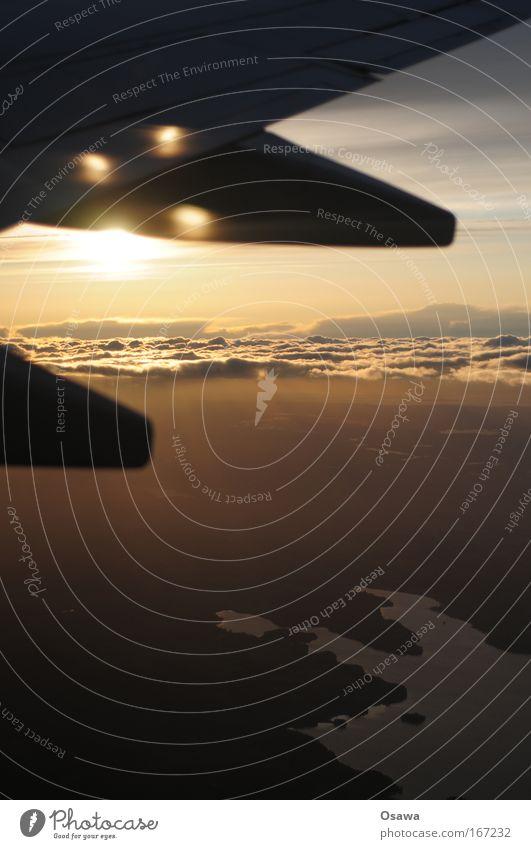 Sky Water Vacation & Travel Sun Joy Clouds Calm Landscape Air Horizon Contentment Flying Transport Airplane Dangerous Aviation