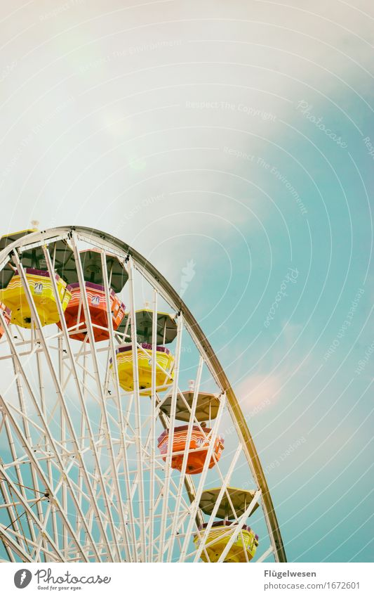 high up Vacation & Travel Tourism Trip Adventure Night life Entertainment Party Beach bar Dome Playground Sit santa monica Jetty Ferris wheel Tall Wedding