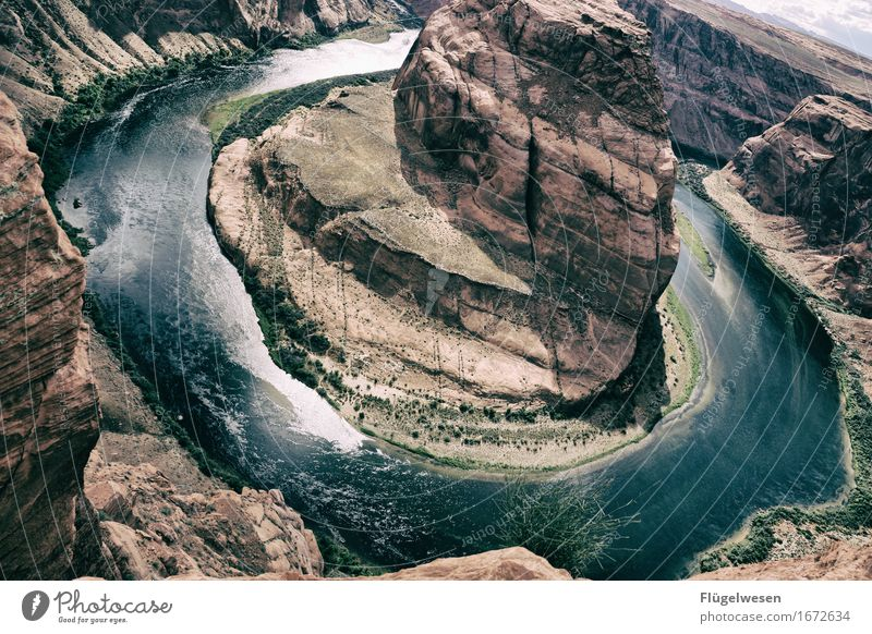 Horseshoe Bend (Arizona) [1] Beautiful Trip Mountain Landscape Water Coast River Tourist Attraction Touch Vantage point USA National Park Americas Page