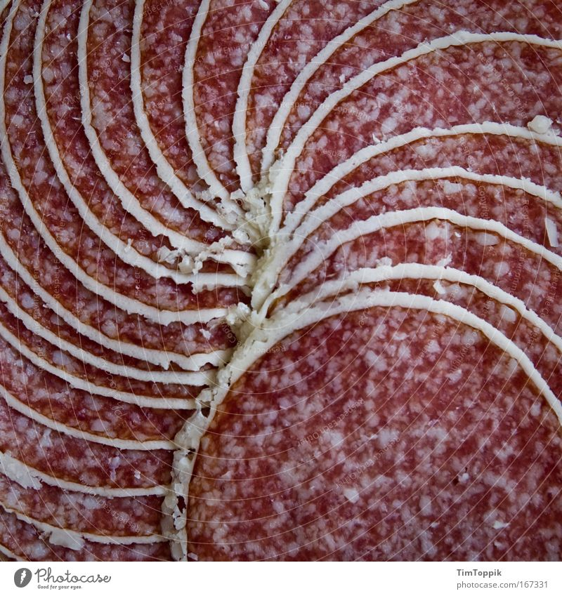 Great sausage #2 Macro (Extreme close-up) Deserted Bird's-eye view Food Meat Sausage Nutrition Fat Unhealthy Salami Spiral Winding staircase Carnivore Pork