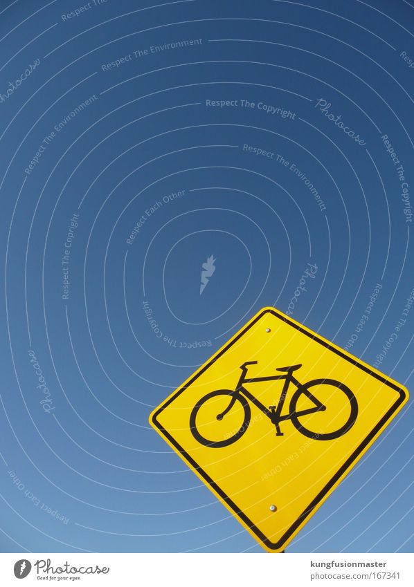 Sky Street Bicycle Signs and labeling Transport Signage Safety Village Environmental protection Cloudless sky Road traffic Crossroads Road sign Warning sign