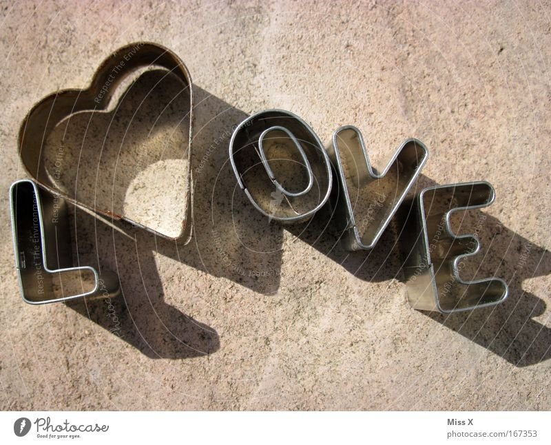 L<3 ove Subdued colour Detail Deserted Characters Heart Love Spring fever Infatuation Romance Baking tin Cookie Metalware Dough Sand toys cookie cutter Shadow