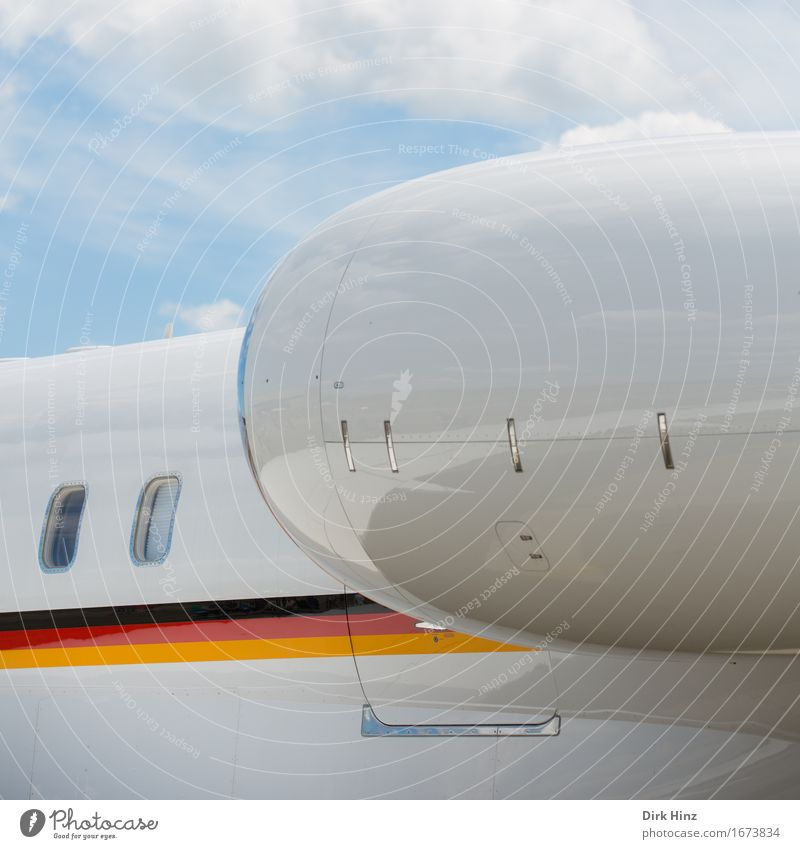 Sky Airplane window Tourism Transport Aviation Technology Future Industry Logistics German Flag Passenger traffic Airport Machinery Sheath Advancement