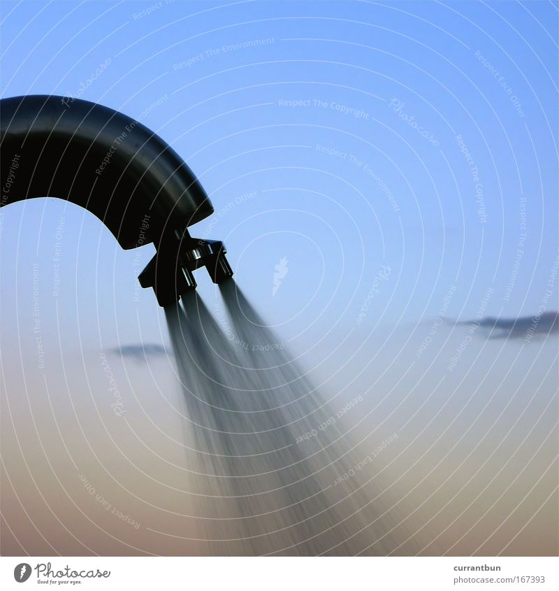Dus de Cer Colour photo Exterior shot Close-up Deserted Evening Twilight Shadow Silhouette Water Sky Summer Lake Watering can Cool (slang) Free Wet Clean Blue