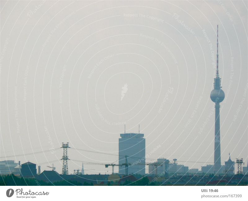Gray Berlin Elegant Tall High-rise Esthetic Authentic Tower Communicate Telecommunications Point Television Thin Sign Skyline Landmark