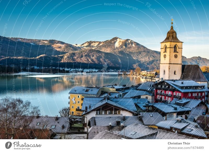 St. Wolfgang / Salzburg Harmonious Well-being Contentment Relaxation Calm Meditation Vacation & Travel Tourism Trip Freedom Sightseeing Winter Snow Mountain