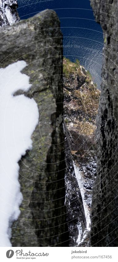 Afraid of heights? Climbing Mountaineering Rock Canyon Fjord Lysefjord Norway Hiking Free Tall Cold Above Under Brave Safety Self Control Fear Vacation & Travel