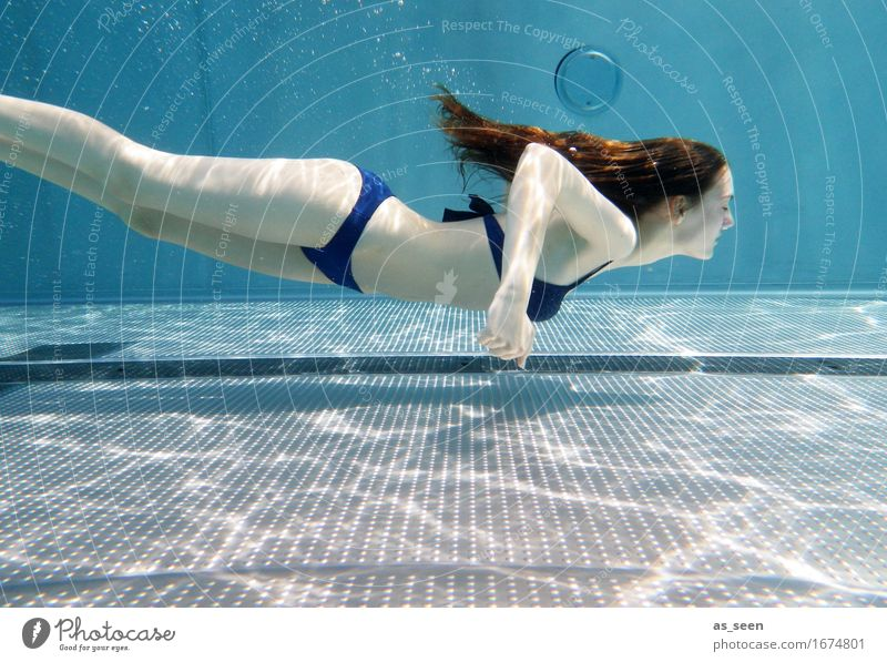Mermaid II Life Harmonious Calm Swimming pool Swimming & Bathing Leisure and hobbies Feminine Young woman Youth (Young adults) Body 1 Human being 13 - 18 years