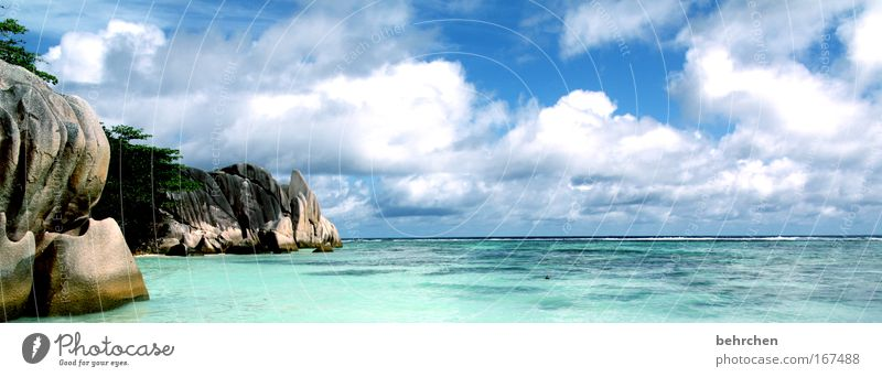 Sky Sun Ocean Beach Vacation & Travel Clouds Happy Landscape Contentment Waves Coast Rock Island Fantastic Bay Turquoise