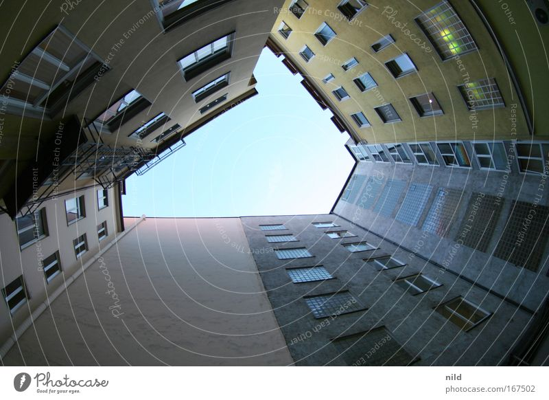 City House (Residential Structure) Wall (building) Wall (barrier) Building Architecture Facade Munich Bavaria Manmade structures Backyard Symmetry Vertical