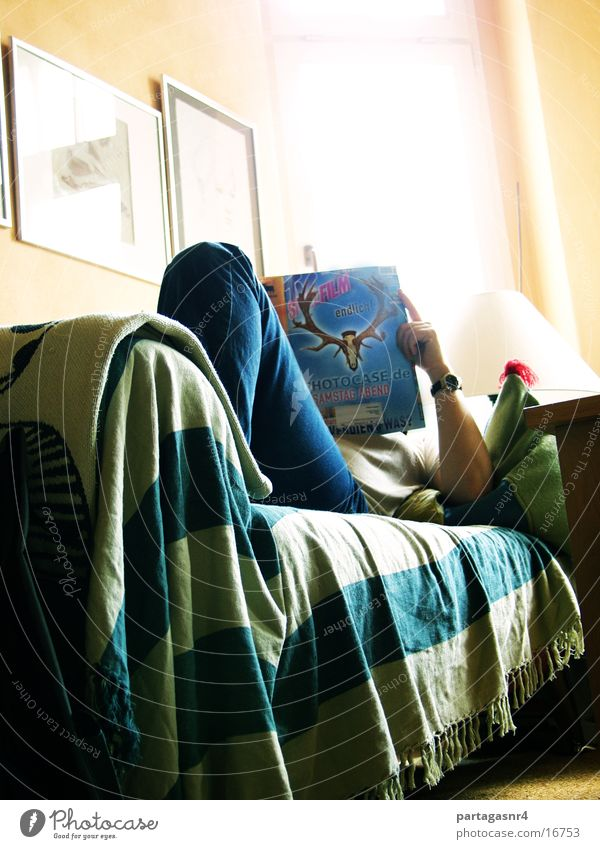 interesting reading Man Reading Rest Sofa