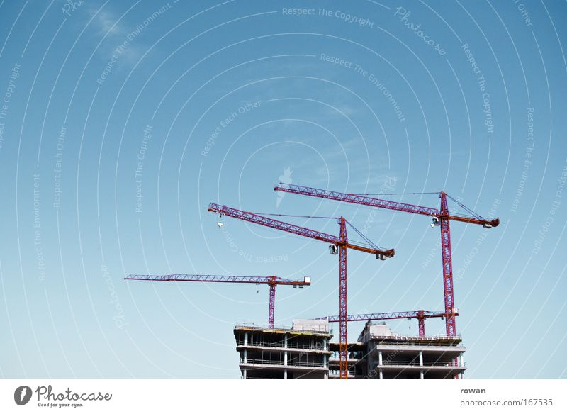 Architecture Building Growth Beginning Change Construction site Manmade structures Teamwork Crane Paving tiles