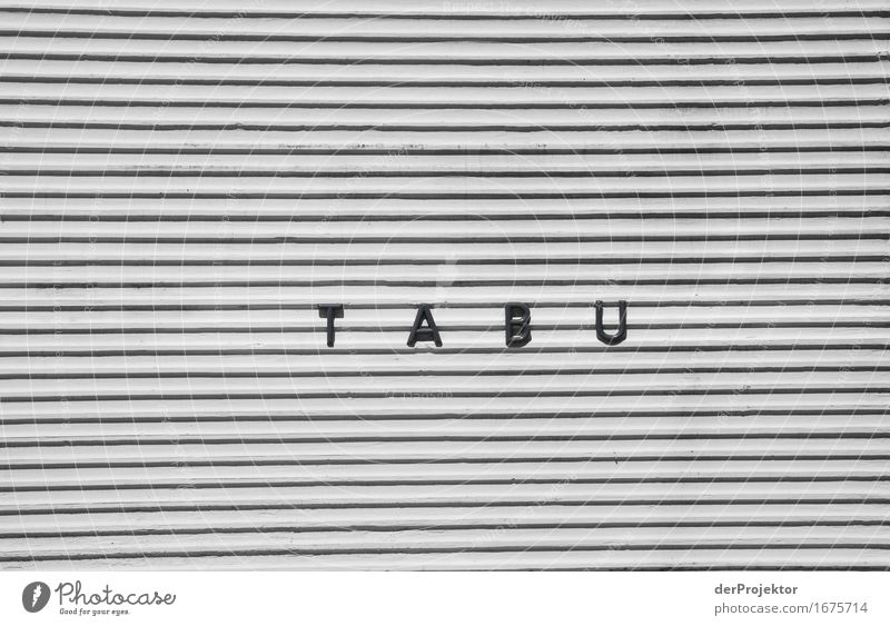 T A B U House (Residential Structure) Wall (barrier) Wall (building) Sign Characters Threat Famousness Cold Curiosity Interest Fear Jealousy Mistrust Envy