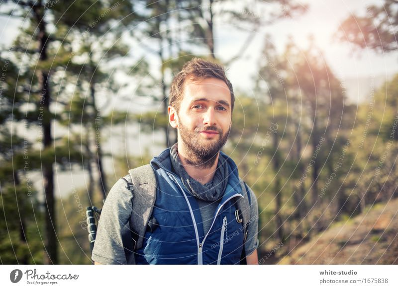 Outside at home Leisure and hobbies Fitness Exterior shot Hiking Balance work-life balance Contentment Athletic Sportsperson Sports Training Mountain Forest