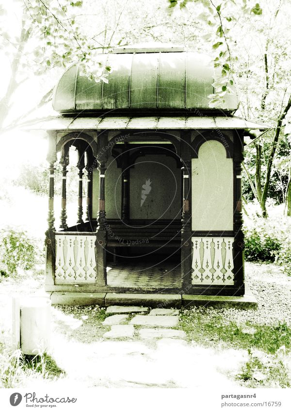 Tea house in the park Park Calm Summer Architecture