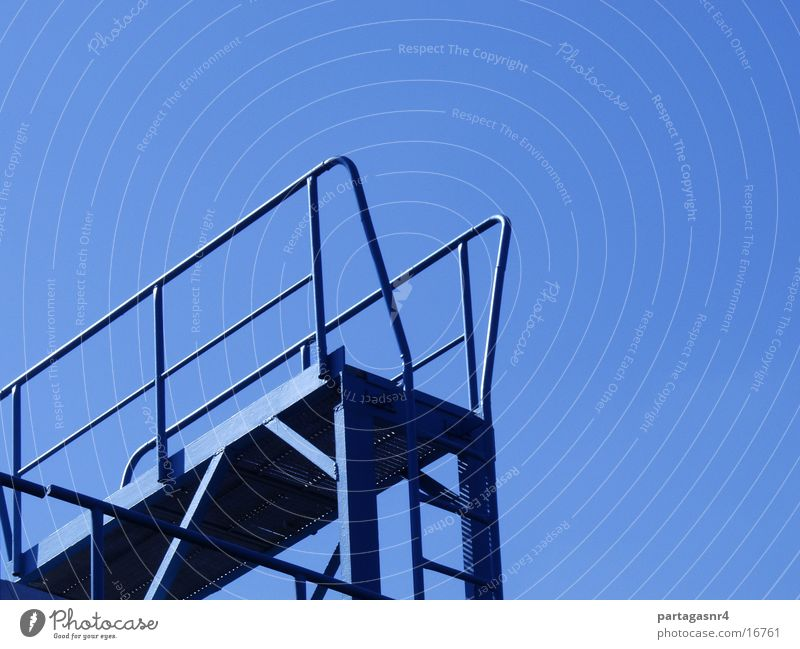 Ladder to heaven? Steel Industry Sky Blue Share Stairs