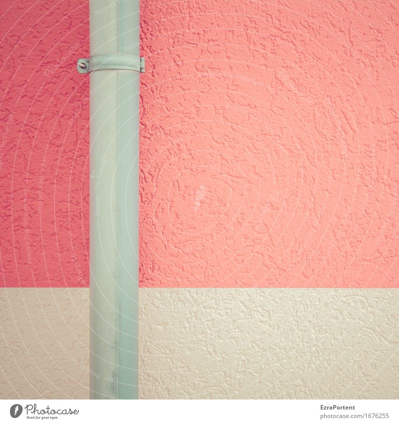 Colour Red House (Residential Structure) Architecture Wall (building) Building Wall (barrier) Gray Stone Line Facade Design Metal Esthetic Concrete Illustration