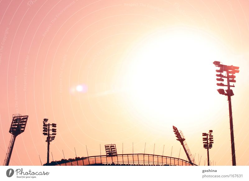 Sky Yellow Bright Pink Gold Large Light Hot Illuminate Manmade structures Beautiful weather Arrogant Stadium Humble Back-light Ball sports